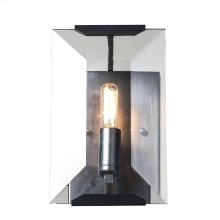 1212 Monaco Collection Wall Sconce W:6in H:10in Ext: 7in Lt:1 Flat Black (Matte) Finish