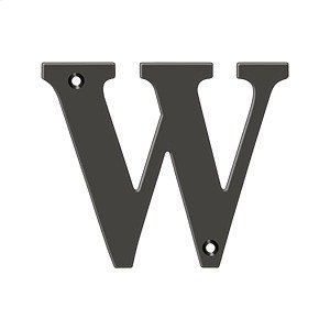 "4"" Residential Letter W - Oil-rubbed Bronze Product Image"