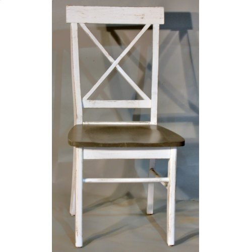 "#594 X Back Chair 18""wx19""dx37.5""h"
