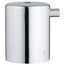 Metal temperature control handle