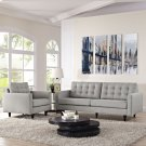 Empress Armchair and Sofa Set of 2 in Light Gray Product Image