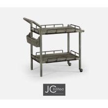 Antique Dark Grey Bar Cart