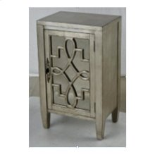 Leighton 1-door Cabinet In Silver Leaf