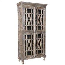 Bengal Manor Mango Wood Grey Wash 4 Door Cabinet