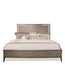 Sophie King Panel Bed Natural finish