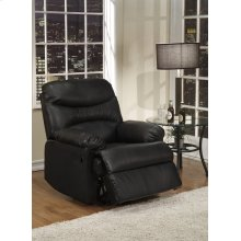 Black Leather Match Recliner