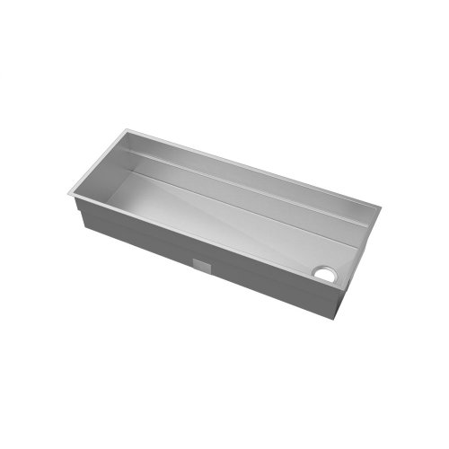 "SmartStation® 005454 - undermount stainless steel Kitchen sink , 48"" × 18 1/8"" × 10"" (Walnut)"