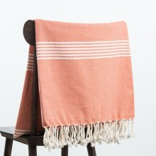 Annette Throw - Coral