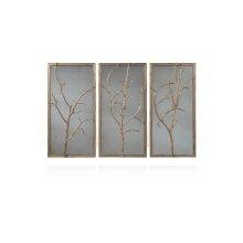 Hawthorn Trio Wall Mirror - Gilt