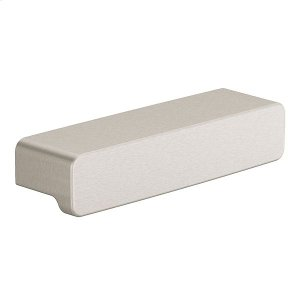 90 Degree brushed nickel drawer pull Product Image