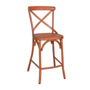 X Back Counter Chair - Orange Product Image