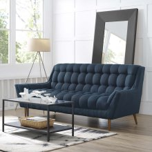 Response Upholstered Fabric Sofa in Azure