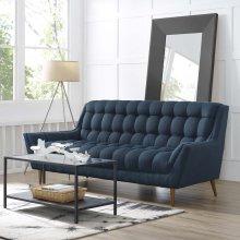 Response Upholstered Fabric Sofa in Azure