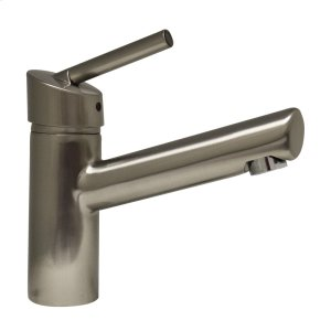 Centurion single-hole, single-lever lavatory faucet with a long spout. Product Image