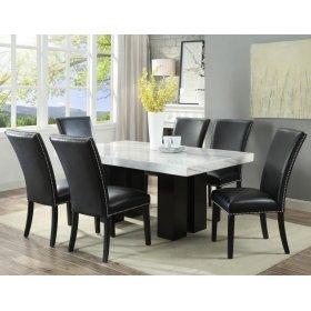 "Camila Black PU Dining chair W/ Nailhead 20""x28""X41"""