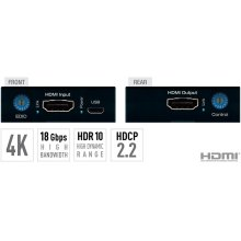 4K/18G HDMI Fixer, Booster, Buffer of EDID, HDCP, Hot Plug, 18G to 10G Compress/Decompress