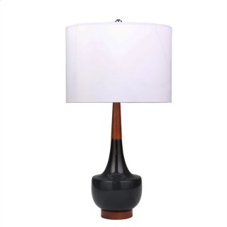 "Ceramic 28"" Genie Table Lamp, Black"