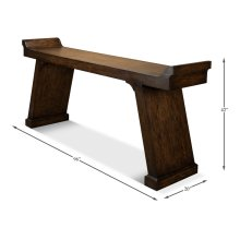 Suspension Console Table,Burnt Brn Oak