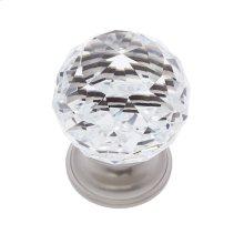 Satin Nickel 40 mm Round Faceted Knob