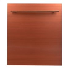 "24"" Dishwasher Panel in Copper with Modern Handle (DP-C-24)"
