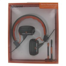 Polaroid Foldable Stereo Headphones with Two Interchangeable Cords - PHP8330OR, Orange