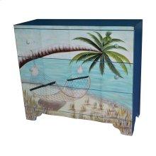 Gulf Breeze 3 Drawer Painted Beach Scene Chest