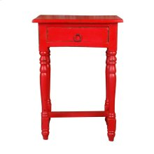 CC-TAB1646LD-RD  Cottage Desk  Distressed Red
