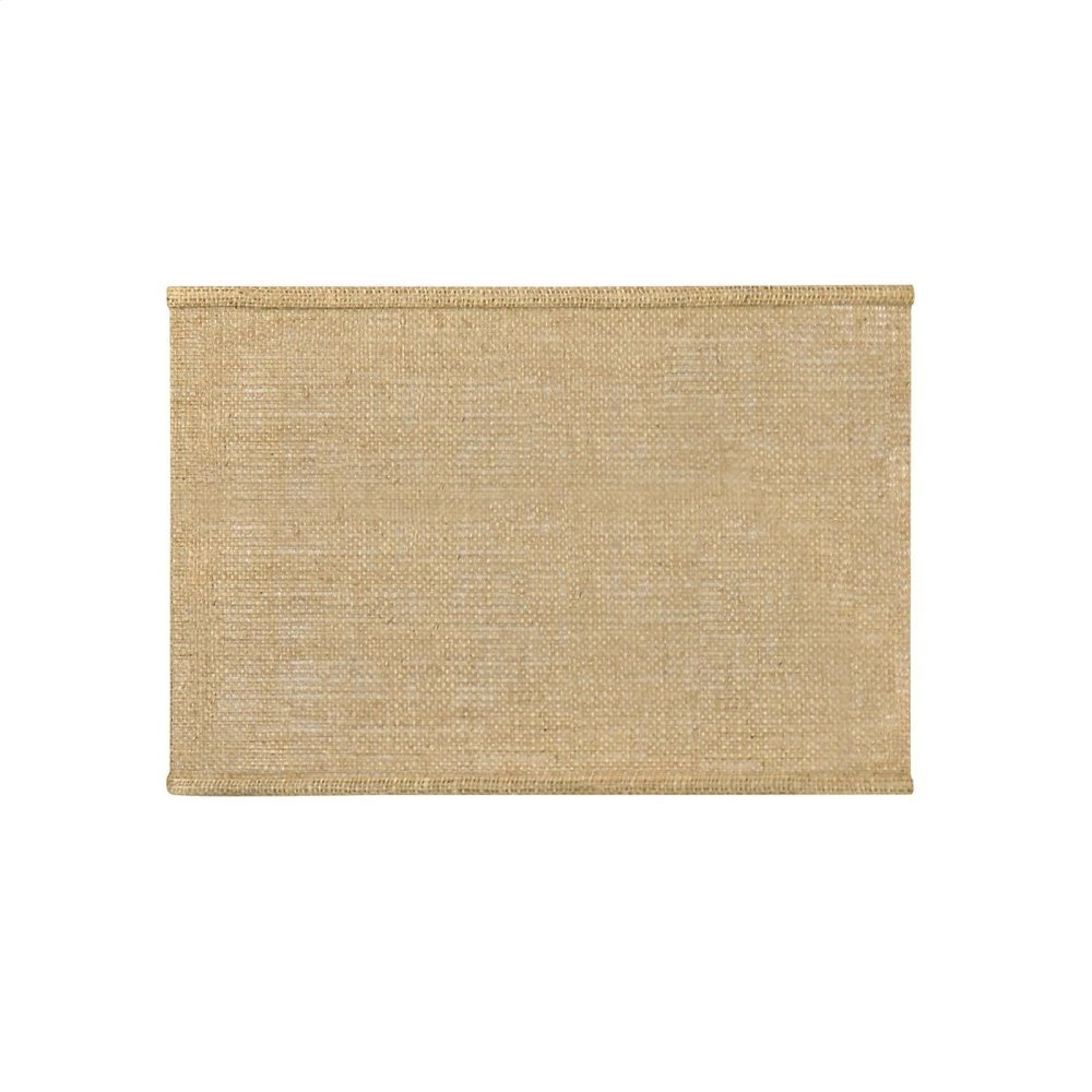 Shade 16-inch Square with Nickel, Burlap