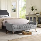 Response Upholstered Fabric Bench in Expectation Gray Product Image