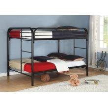 Full / Full Metal Bunk Bed (Black)