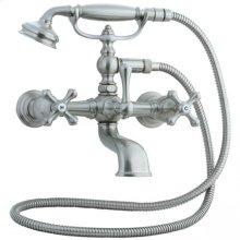 Asbury - Claw Foot Bathtub Filler with Handshower - Unlacquered Brass