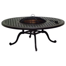 "Grand Terrace 54"" Round Chat Height Wood Fire Pit"