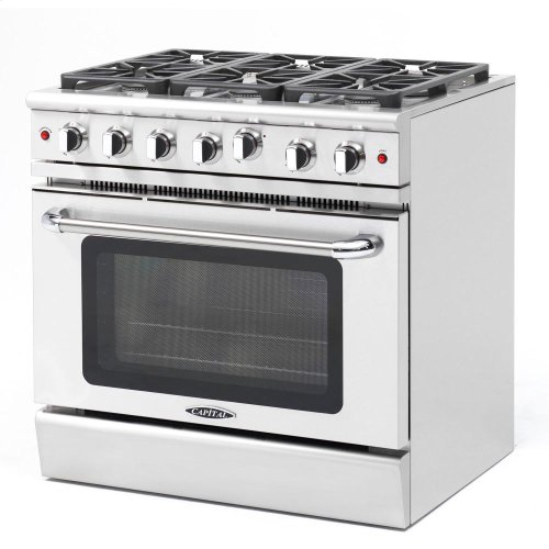 "36"" Gas Convection Range with 6 Sealed Burners 19K BTU"