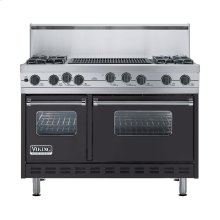 """Graphite Gray 48"""" Sealed Burner Self-Cleaning Range - VGSC (48"""" wide, four burners & 24"""" wide char-grill)"""