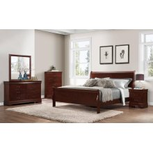 Chablis Cherry LP Queen Bedroom Ste: Queen Bed, Nightstand, Dresser & Mirror