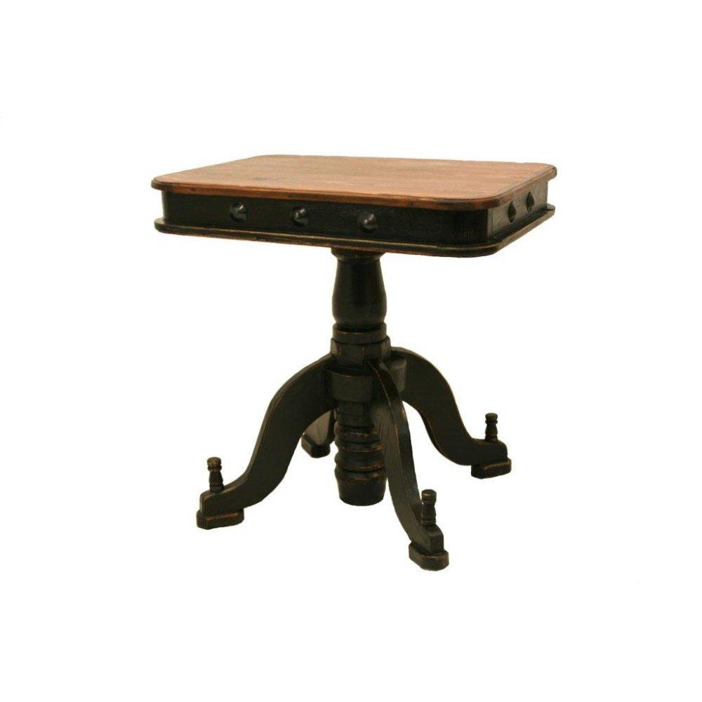 Black/Walnut Francis Recepcion End Table