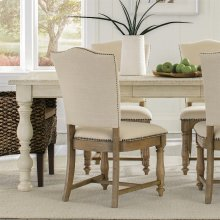 Aberdeen - Upholstered Side Chair - Weathered Driftwood Finish