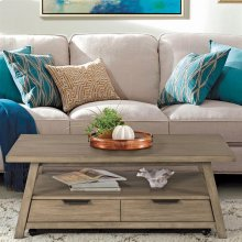 Perspectives - Large Coffee Table - Sun-drenched Acacia Finish