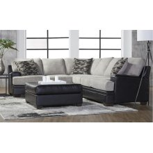 HUGHES FURNITURE 8850LSF-RSF-OT  3-Piece San Marino Ebony And Tosh Dove Sectional Sofa And Ottoman