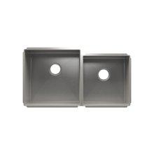 """J7® 003954 - undermount stainless steel Kitchen sink , 18"""" × 18"""" × 10""""  15"""" × 16"""" × 8"""""""
