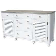 Newport Dresser- Wht/rw