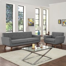 Engage Armchair and Sofa Set of 2 in Expectation Gray