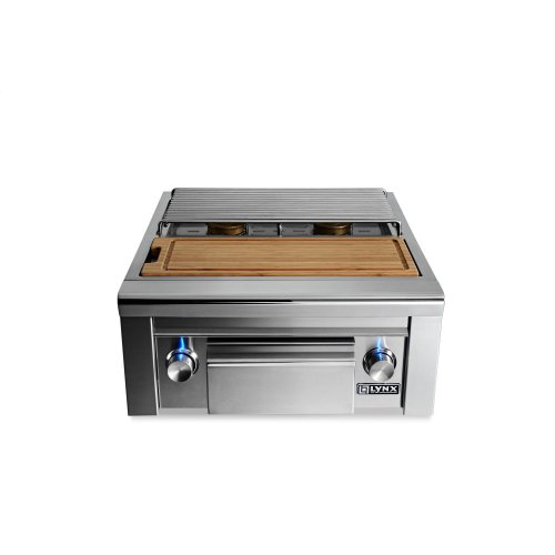 Prep Center with Double Side Burner NG