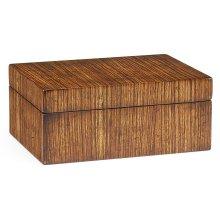 Rectangular Exotic Zebrano Box