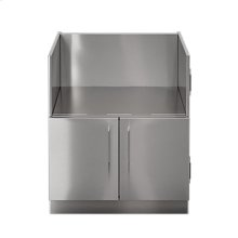 "OUTDOOR KITCHEN CABINETS IN STAINLESS STEEL  PURE 30"" Ceramic Grill Base Cabinet 2 doors"