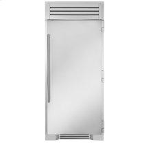 36 Inch Stainless Door Freezer Column - Left Hinge Stainless Solid