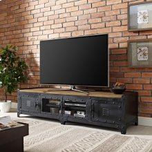 """Dungeon 63"""" TV Stand in Black"""