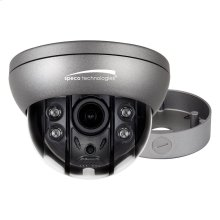 4MP Flexible Intensifier® Technology H.265 Dome IP Camera with Junction Box, 2.8-12mm motorized lens, Dark Gray Housing