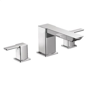 90 Degree chrome two-handle roman tub faucet Product Image