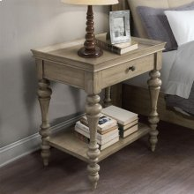 Corinne - Wood Top Leg Nightstand - Sun-drenched Acacia Finish